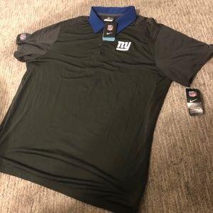 Nike Men's NFL Dri-Fit NY Giants Polo 2XL NWT